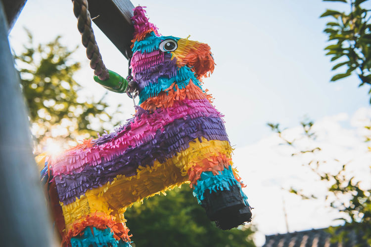 Close-up Day Focus On Foreground Low Angle View Multi Colored No People Outdoors Piñata