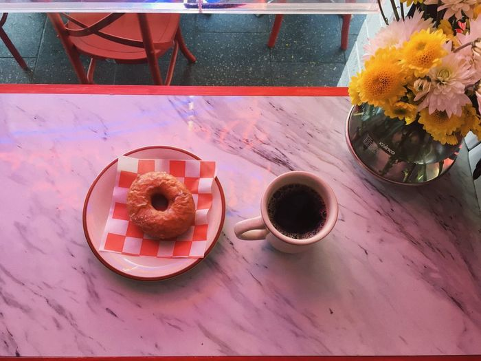 Coffee Cup Drink Food And Drink Diner Doughnuts