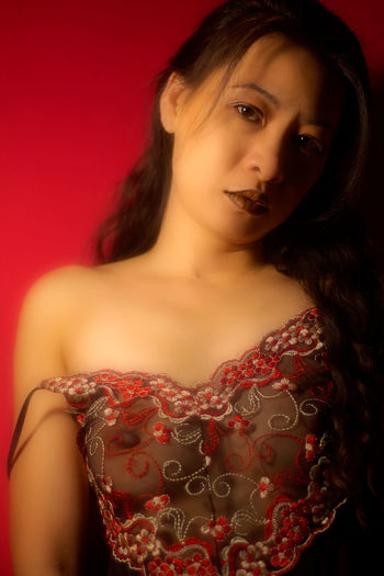 Asian Woman Chinese Women Chinese Words Red Adult Adults Only Asian Women Beautiful Woman Beauty Chinese Woman Portrait Close-up Colored Background Fashion Fashion Model Glamour Indoors  Lifestyles Lingerie Lingerie Photography Lingerie Shoot Looking At Camera One Person One Woman Only One Young Woman Only People Portrait Red Red Background Red Color Studio Shot Young Adult Young Women
