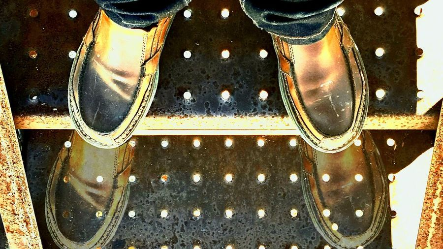 Pic I took of my feet while walking down stairs of a catwalk. I decided to ghost my step down to break the mold! Break The Mold Pattern Oil Field The Week On Eyem Eyeemphotography EyeEm Gallery Eyeemoninstragram Gottaloveeyeem Texasphotographer Texas Made Eyem Photo Reflection Ghosting Catwalking New Step See What I See See The World Through My Eyes Seethrough What Will Be Will Be What Do You See? Feetporn Footsteps Foot Prints Now You See Me, Now You Don't Phantom Shadow Rethink Things