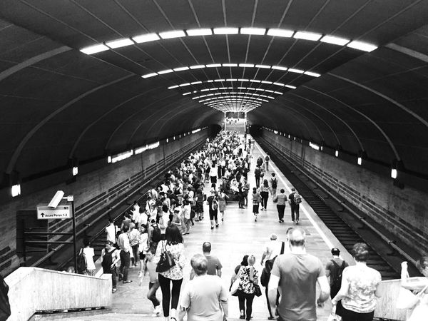 Lights Contrast Black And White Lights From The Underground Anthouse Crowd Busy Day...... Busy Life!! Lifestyles Large Group Of People Men Women Iphone6 Photo EyeEmNewHere Metro Station Subway Station EyeEmNewHere EyeEm Selects