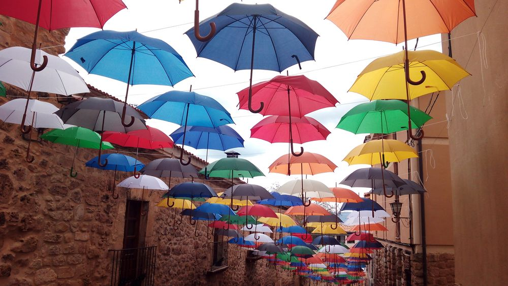 Multi Colored Protection Variation Outdoors No People Large Group Of Objects Day Umbrellas Umbrella