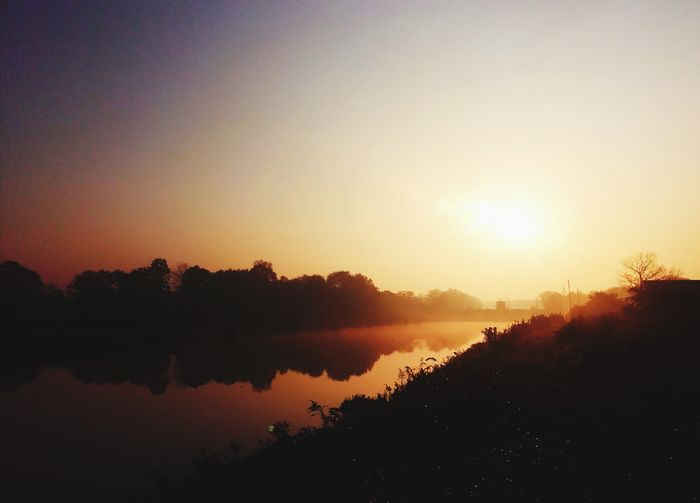 Hi World Sky Lover Selective Focus EyeEm Best Shots EyeEmNewHere In Morning Photography Women View Good Morning Morning Light Walking Tree Water Sunset Lake Dawn Silhouette Reflection Sunlight Multi Colored Sky Foggy Constellation Star Field Atmospheric Mood Fog Shining