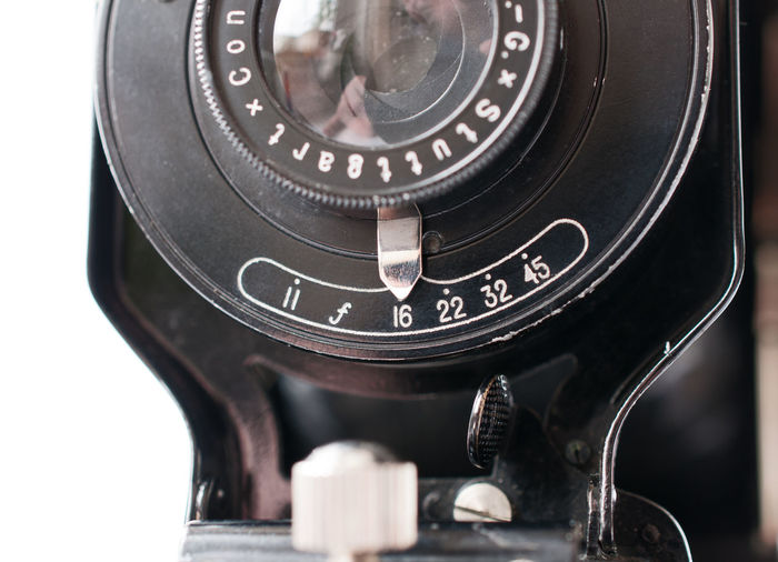 sunny sixteen... ;) Analogue Photography Antique Aperture Aperture Scale Camera Close-up Day F-stop Indoors  Lens Metal No People Old-fashioned Retro Styled Technology White Background Photography Themes Close Up Camera - Photographic Equipment Vintage Vintage Camera