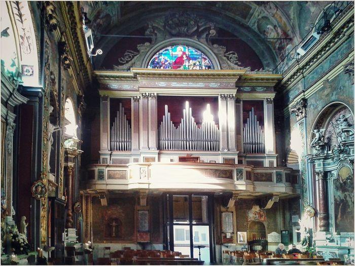 Organ Church Interior N.s. Assunta Catholic Church Baroque Smartphone Photography Mobilephotography S3 Mini Place Of Worship Religion Ornate Architecture Built Structure Fresco
