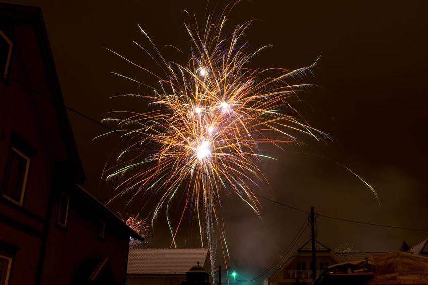 Happy new year Celebration New Year Norway Celebration Celebration Event Firework Firework - Man Made Object Firework Display Happy New Year 2018 Illuminated Long Exposure Night No People Outdoors Porsgrunn Sky
