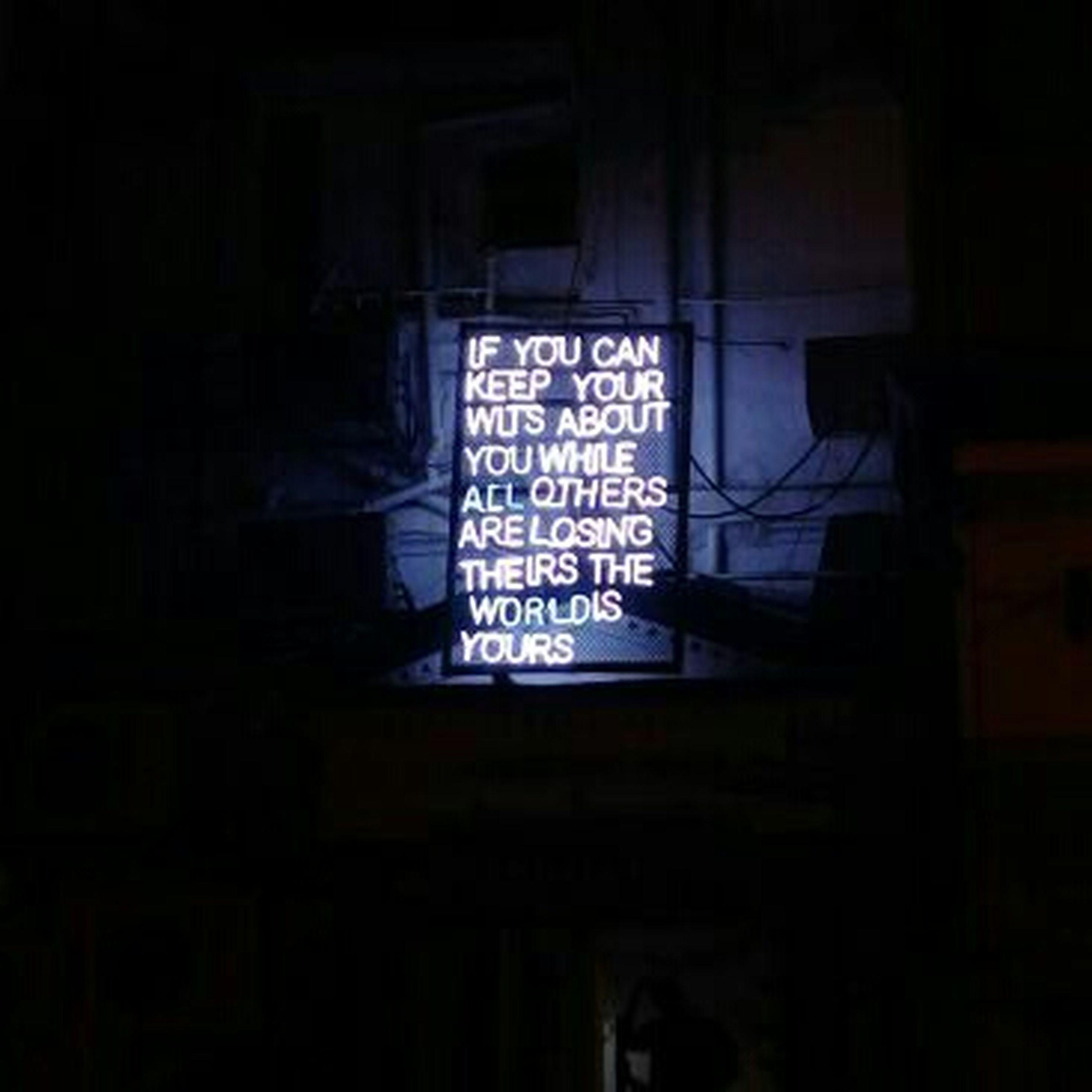 illuminated, night, dark, no people, text, neon, outdoors