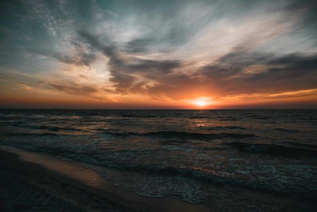 Mamaia Sunrises Mamaia Beach Mamaia Sky Water Sea Beauty In Nature Sunset Beach Horizon Horizon Over Water Scenics - Nature Cloud - Sky Nature Idyllic Land Tranquil Scene No People Tranquility Outdoors Orange Color Non-urban Scene The Great Outdoors - 2018 EyeEm Awards