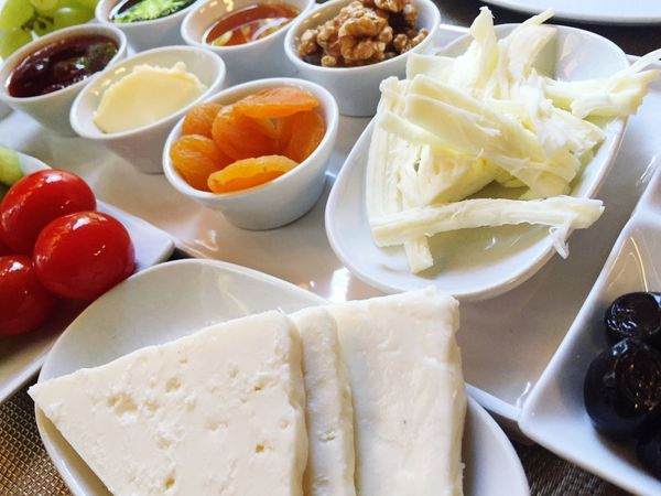 Feta Food And Drink Food Ready-to-eat Freshness Healthy Eating Plate Serving Size SLICE Table Appetizer Nobody Turkishbreakfast Breakfast Greek Cheese Olives Food And Drink