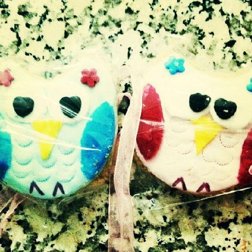 Mr And Mrs Owl Cookie alittle presentfromlittle sister sis bay ve bayan baykuş kurabiyeküçük kardeşten küçük bir hediye