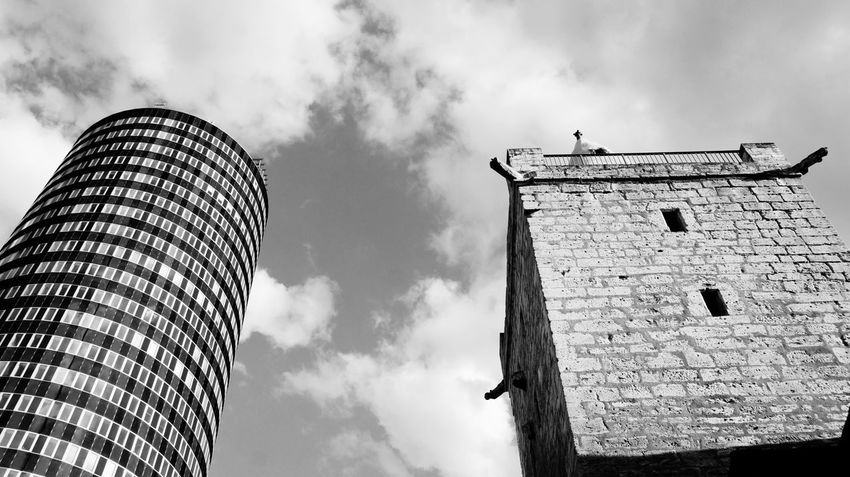 Jena old and new Old Buildings New Life Blackandwhite Black And White Black & White Sunray Of Light Travel Destinations Outdoor Photography Cityscape Jena City Life The Architect - 2016 EyeEm Awards