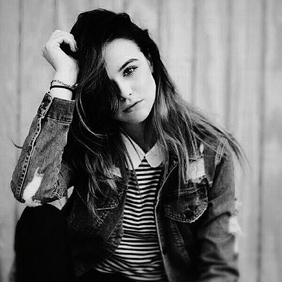 One Person Beauty Blackandwhite Black & White Blackandwhite Photography Jean Jacket Jean Jeans