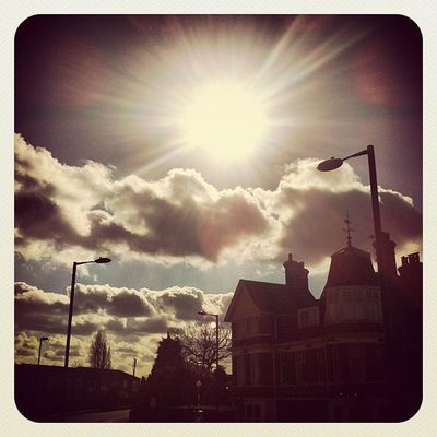 Clouds and sunshine #sunshine #iphone #instagram #instagood #iphoneography #london #sky #clouds Enfield Bushhillpark Clouds IPhone Sunshine IPhoneography Sky London Instagram Instagood