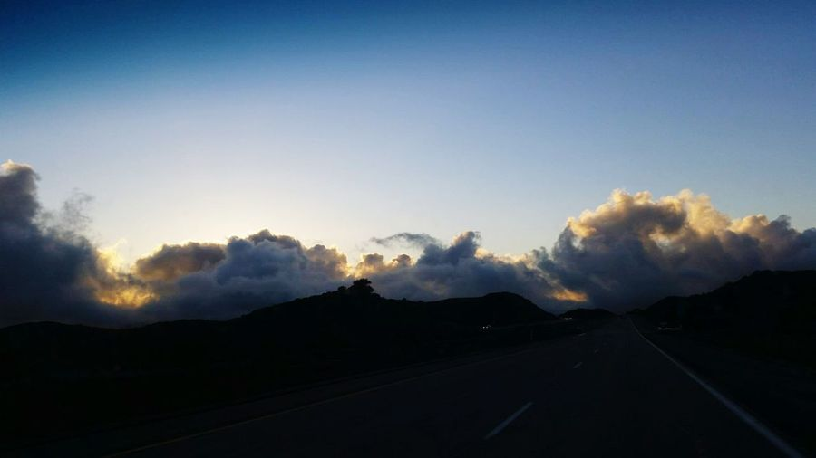 Mountain Landscape Sunset No People On The Road cloud sky Hwy 8 San Diego outskirts California