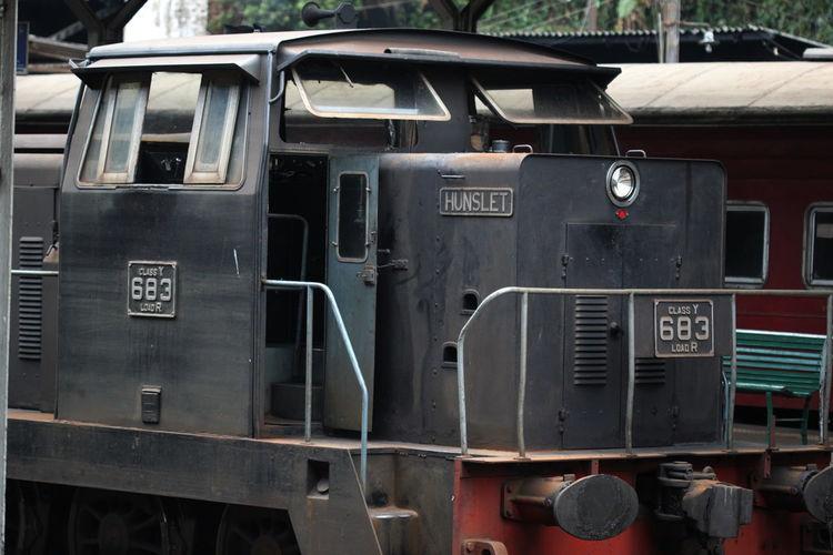 Black Color Close-up Day Kandy Railway Station Locomotor Mode Of Transport No People Outdoors Sri Lanka Stationary