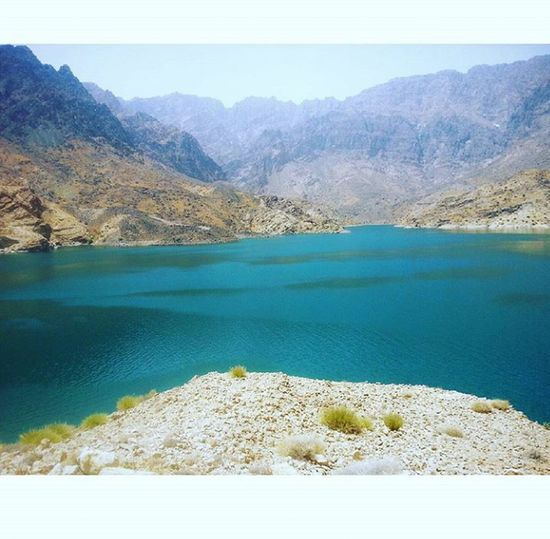 Landscape Blue Lake Outdoors Clear Sky No People Refraction Day Beauty In Nature Scenics Mountain Sky Mountain Range Tranquil Scene Tree Water Nature Omani_style Oman_photo Oman Oman_photography Nature Beauty In Nature Bouquet Freshness