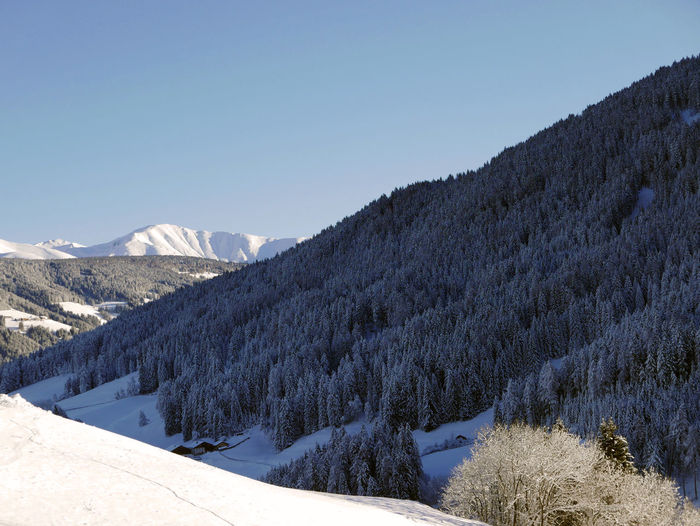 Val Pusteria Beauty In Nature Blue Clear Sky Cold Temperature Landscape Mountain Scenics Snow Tranquil Scene Winter