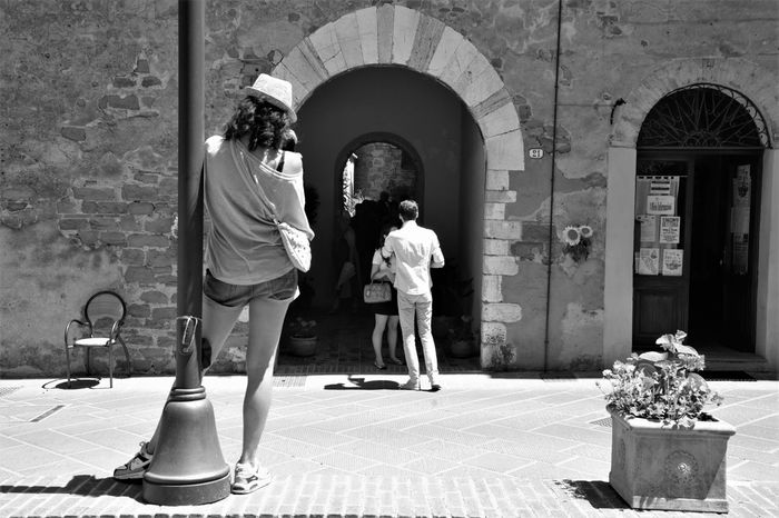Bettona Day Full Length Girl With Hat Observe Outdoors People Situation Streetphotography Togetherness Two People Umbria, Italy Woman Women