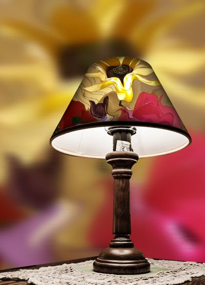 Pipcam Lamp Overlay Floral, Abstractions In Colors Photomanipulation Yellow Vibrant Colors Bright