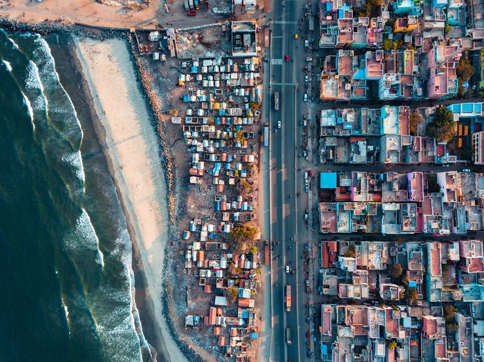 Aerial view of city India EyeEm Best Shots EyeEm Perspective Photography Chennai Djiglobal Mavic Pro DJI X Eyeem Streets Of India From Where I Drone Madras Aerial View Crowd High Angle View Architecture City Water Business Large Group Of People Group Of People Mode Of Transportation Outdoors Built Structure Motor Vehicle Nature