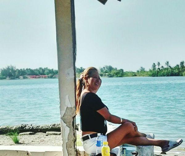 Dia de playa ju ju Swimming Sea Enjoying The Sun Beautiful Nature That's Me People Watching