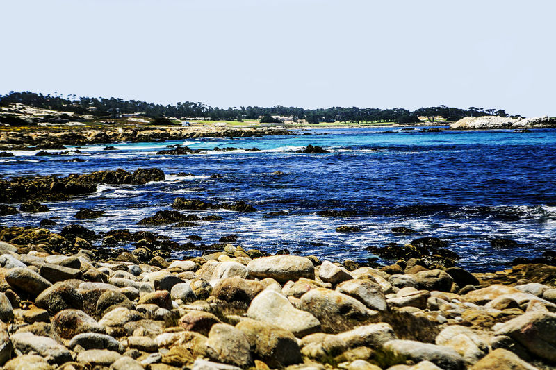 17 Mile Drive Beauty In Nature California Calm Coast Coastline Lake Lakeshore Nature Outdoors Reflection Remote Rippled River Riverbank Rocks Scenics Seeing The Sights Standing Water Tranquil Scene Tranquility Vacations Water Waterfront