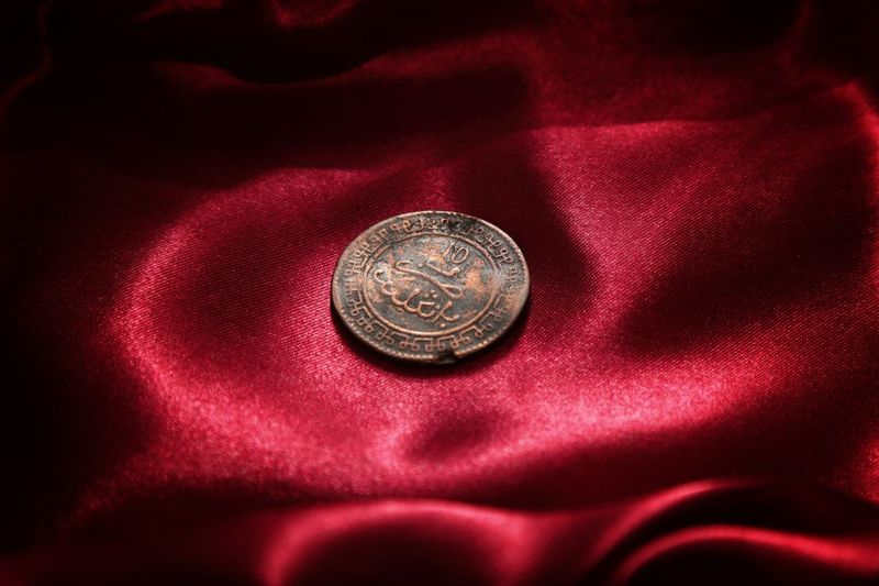 old islamic copper coin EyeEm Selects Islam Artisanat Arabesque Coincollector Collections Coincollection Canonphotography Canon5dmarkiii Morocco Coin Red Currency Metal Close-up Money