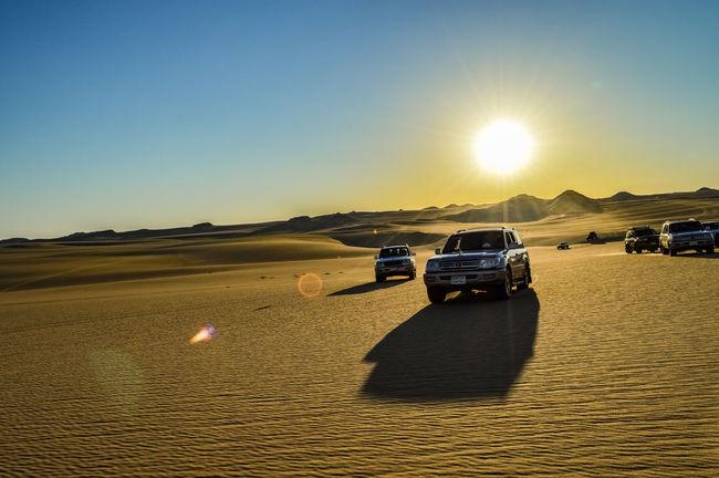 swia Safari Siwa Oasis Desert Land Cruiser Toyota Toyota Landcruiser Sunlight Sunset Car Outdoors Transportation Sun Sand Sky Clear Sky Nature