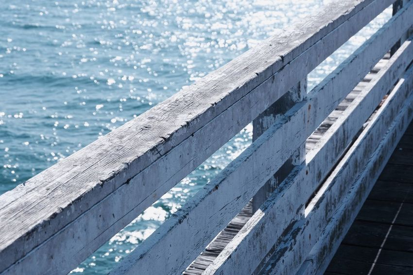 Ocean Water Pier Wood - Material Pier No People High Angle View Day Outdoors Blue