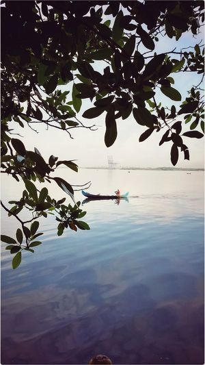 Summer Time ☀ Water Scenics Reflection Nature Silhouette Tranquil Scene Outdoors Beauty In Nature Day One Person Tranquility Rowboat Travel That's Me :) Place Of Heart EyeEmNewHere