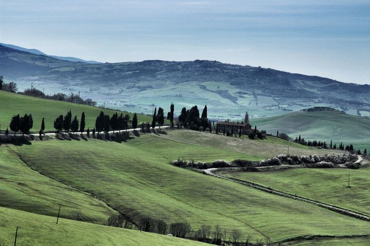 Campagna Senese Countryside Medioeval Village Monticchiello Siena Toscana Tuscany Val D'orcia