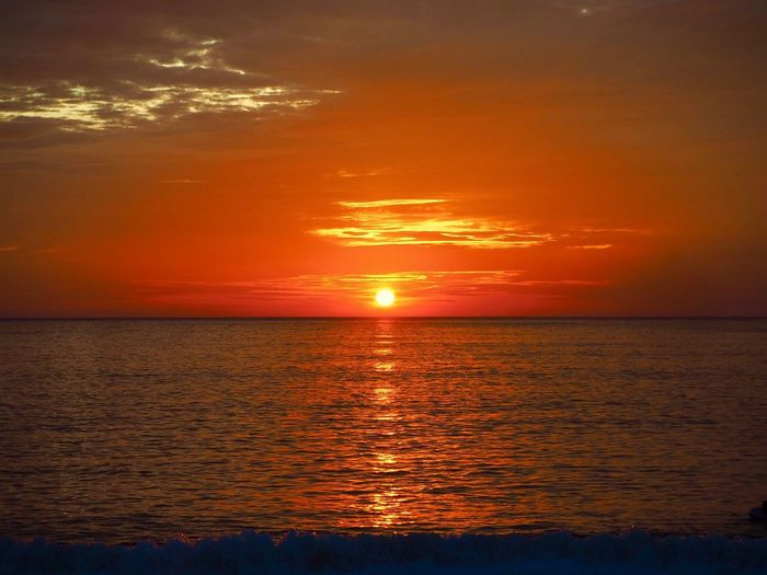 Teluknipah Sunset Sunset_collection Sea Scenics Beauty In Nature Water Horizon Over Water Tranquility Orange Color Tranquil Scene Reflection Sky Sun Dramatic Sky Cloud - Sky Beach Pangkor Perak Malaysia