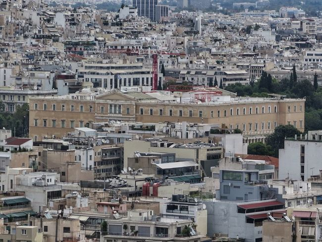 Athens, Greece Building Exterior Residential District Architecture Greece Built Structure Cityscape Syntagma Government Building Parliament Building Greek Parliament