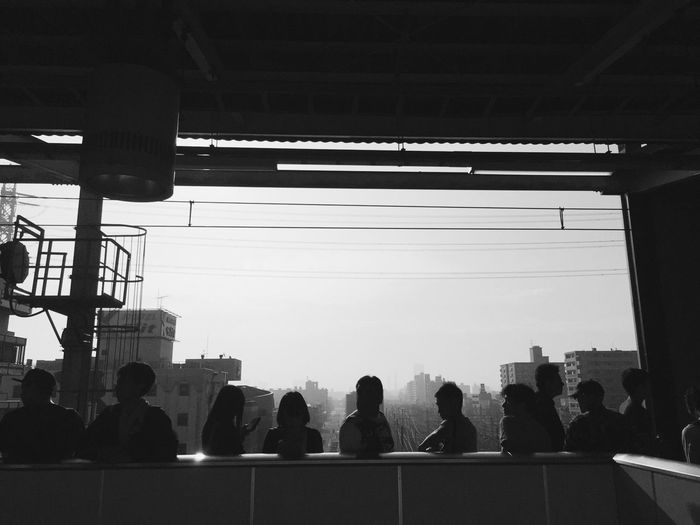 Train Station Streetphotography Monochrome IPhoneography Morning Nishifunabashi Taking Photos