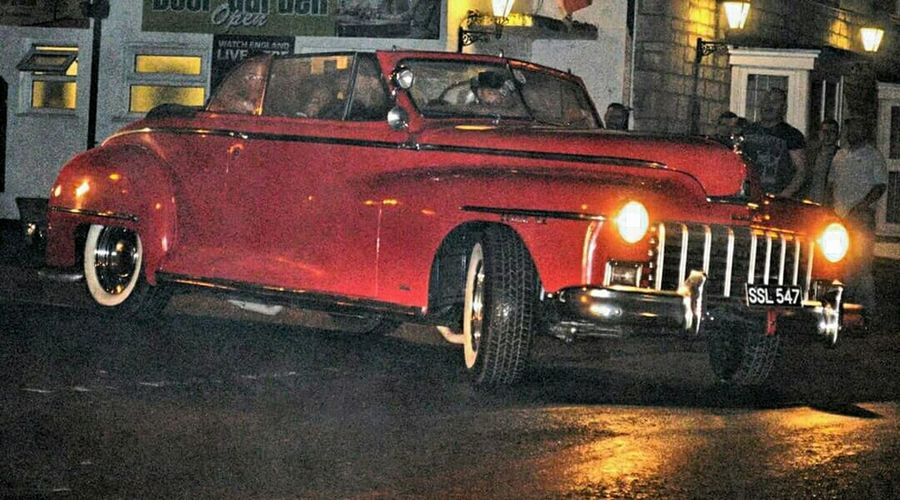 1948 Dodge Convertible Driving Home Classic Car Dursley Gloucestershire My Friends Car