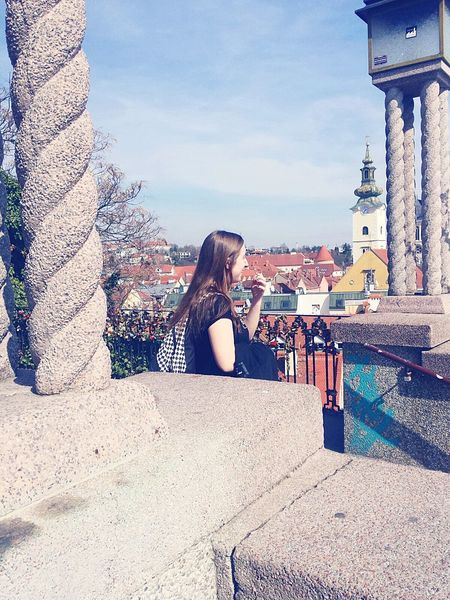 One Woman Only Day Outdoors Tree Sky Women One Person Girl Zagreb Zagreb, Croatia Center City City View  Citylife