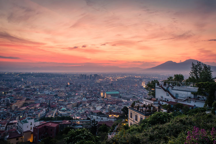 Italia Naples, Italy Napoli Vesuvio Architecture Building Exterior Built Structure City Cityscape Day High Angle View Italy Nature No People Outdoors Residential  Sky Sunset Tree Vesuvius