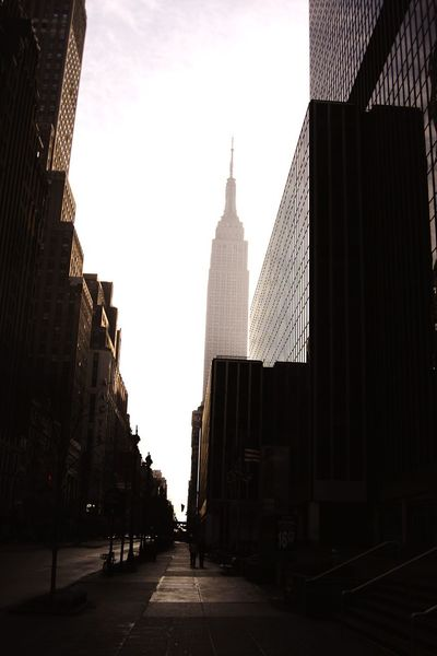 New York, Manhatten, Empire States Building, Sonnenaufgang, Morgen, Nebel, Dunst Manhattan New York City Wege Und Strassen Colour Of Life