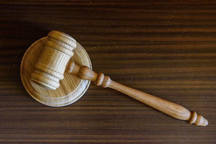 Wooden gavel,