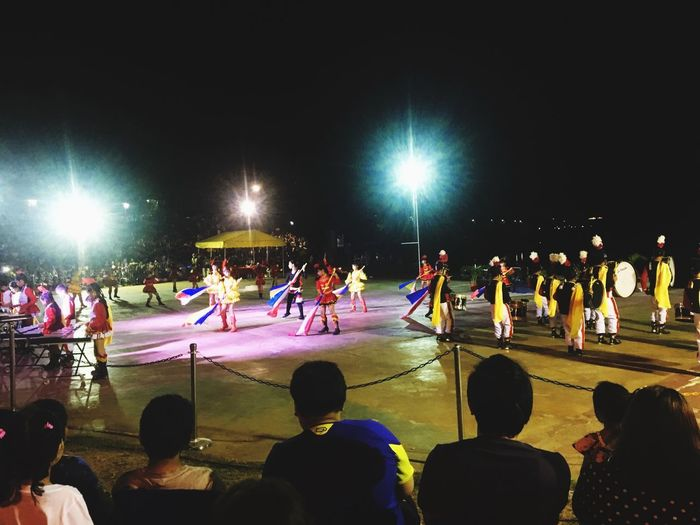 Night Show Lyre Group Of People Night Large Group Of People Sport Real People Crowd Lighting Equipment Lifestyles Nature Enjoyment Sky Cold Temperature Illuminated Outdoors Leisure Activity Floodlight Men Light Adult Watching