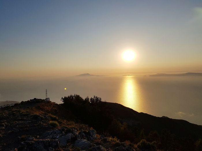 Belvedere Faito Vico Equense Monte Faito Sea Mountain Sun Reflection EyeEmNewHere A New Beginning