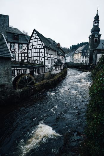 Old town Monschau VSCO Nature Landscape Winter Built Structure Architecture Water Building Exterior Nature Waterfront Sky No People River Day Building Connection Bridge Transportation Outdoors Clear Sky House Plant Reflection