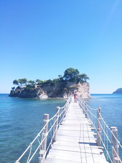 Pier Sea Railing Clear Sky Water Adults Only Day Vacations Tranquility Wood - Material People Beach Zakynthos,Greece Zante Greece Outdoors Island Islandlife Party Holiday Travel Destinations