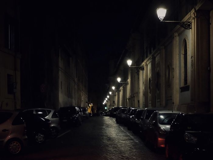 When in Rome Urban Streetphotography Fujifilm Car Night Illuminated Land Vehicle Transportation Street Mode Of Transport Architecture Street Light Building Exterior No People City