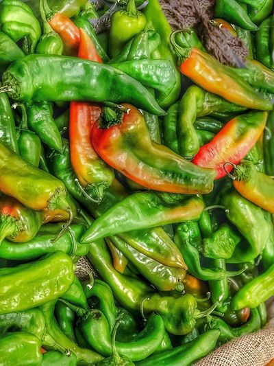 Hatch Chile peppers 🌶 EyeEm Arizona EyeEm Best Shots Food And Drink Freshness Green Color Full Frame Food Healthy Eating Backgrounds No People Vegetable High Angle View Close-up Nature Still Life Chili Pepper Spice