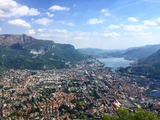 Mountain Day Architecture Building Exterior Sky No People Outdoors High Angle View Built Structure Cityscape Town Beauty In Nature Nature Tree City Lake Lake View Lakecomo Italy Landscape Panorama Cityscape Cloud - Sky Tranquil Scene Beauty In Nature