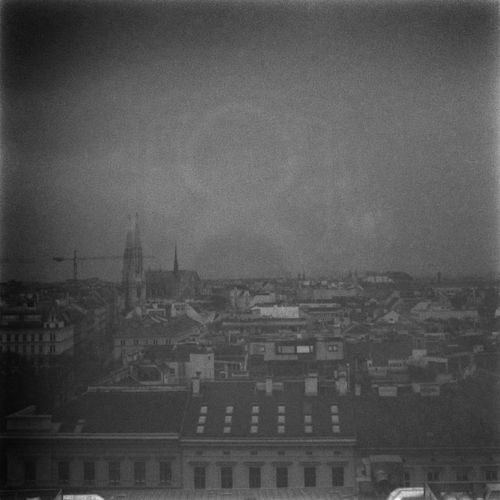 The Sun rises over Vienna. Atmosphere Black And White Cityscape Film Photography Glitch Medium Format TLR Camera Wrong Exposure Xenar 3.5/75mm