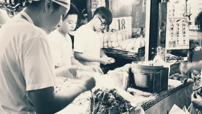 Food Market Side View Young Adult Person Daily Life Market Chinnesefood Meal Dailylife Monochrome Photography