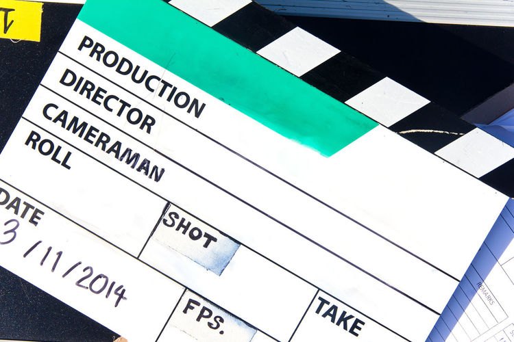 behind the scene, Film Slate on set Advertising Behind The Scene Behind The Scenes Shot Film Equipment Filming MOVIE Broadcasting Clapper Board Film Industry Film Slate Filming Location Filmslate Movie Clapper Board Studio Photography Studio Shot Text Tool
