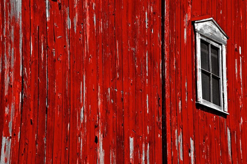 Full Frame Shot Of Old Red Wooden House